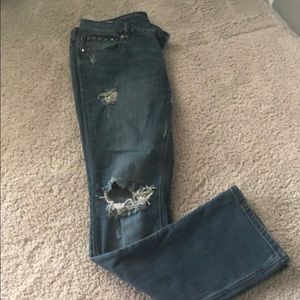 Hurley boot cut destroyed jeans